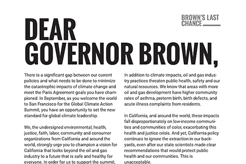 """Governor Brown, Please Step Up"""