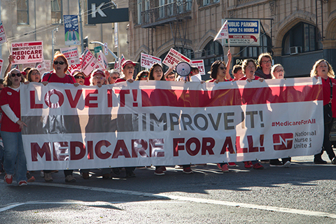Protesters Demand Congressional Reps Support Medicare for All