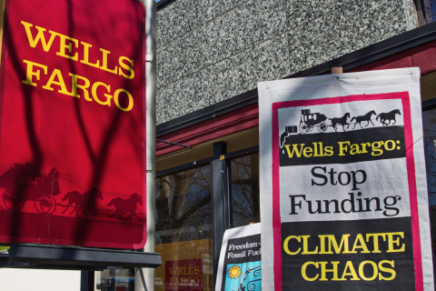 "Protesters in Silicon Valley Tell Wells Fargo ""Quit the Dirty Energy Business"""