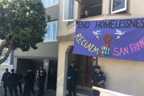 On May Day 2020, Two Homeless Women Move into Vacant Property in San Francisco