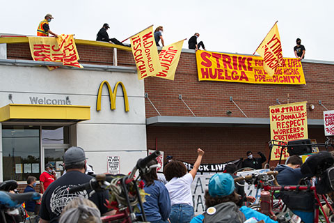 Strike for Black Lives and Working People at McDonald's