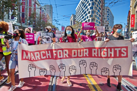 Women March in SF for Rights and a Protest Against